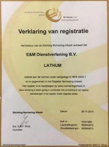 Verklaring E&M Dienstverlening